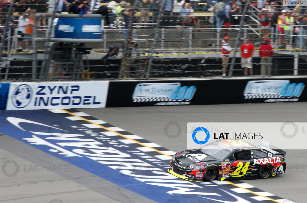 15-17 August, 2014, Brooklyn, Michigan USA Jeff Gordon wins the Pure Michigan 400 ?2014, Brett Moist LAT Photo USA