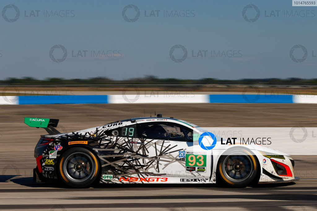 2017 IMSA WeatherTech SportsCar Championship Mobil 1 Twelve Hours of Sebring Sebring International Raceway, Sebring, FL USA Saturday 18 March 2017 93, Acura, Acura NSX, GTD, Andy Lally, Katherine Legge, Mark Wilkins World Copyright: Jake Galstad/LAT Images ref: Digital Image lat-galstad-SIR-0317-14458