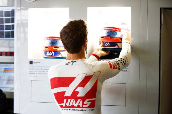 Circuit de Catalunya, Barcelona, Spain. Saturday 13 May 2017. Romain Grosjean, Haas F1. World Copyright: Andy Hone/LAT Images ref: Digital Image _ONZ4817
