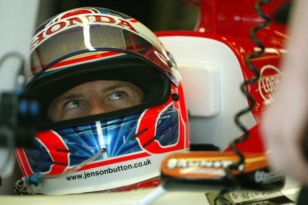2003 British Grand Prix - Saturday Final Qualifying,Silverstone, Britain. 19th July 2003 Jenson Button, BAR Honda 005.World Copyright: Steve Etherington/LAT Photographic ref: Digital Image Only