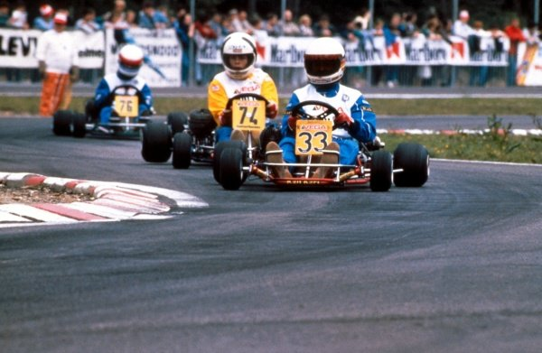 A young Michael Schumacher (GER) karting circa 1984. Formula One Drivers Feature.