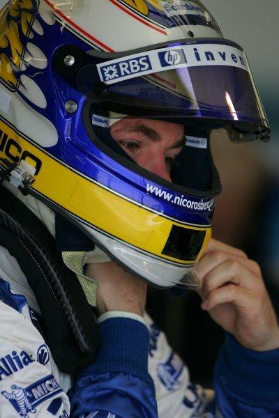 Nico Rosberg (GER) Williams. Formula One Testing, Day 3, Silverstone, England, 28 April 2005. DIGITAL IMAGE