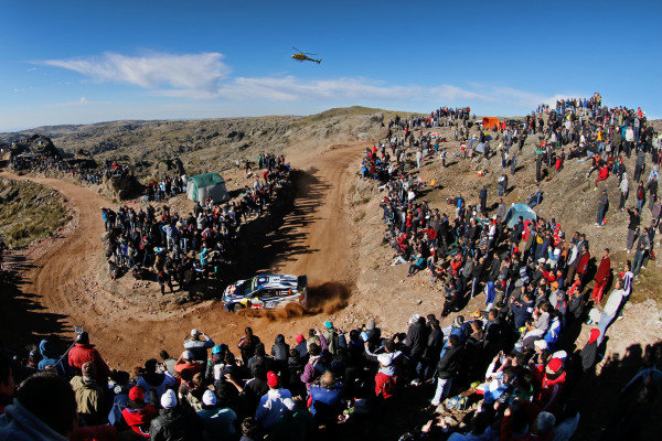 Andreas Mikkelsen (NOR) / Ola Floene (NOR) Volkswagen Polo R WRC at World Rally Championship, Rd4, Rally Argentina, Day Three, Carlos Paz, Argentina, 26 April 2015.