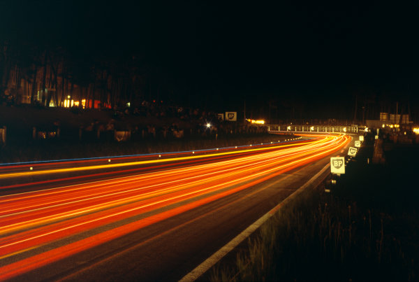 Le Mans, France. 9th - 10th June 1979 Car lights at night, atmosphere World Copyright: LAT Photographic Ref: 79LM08.