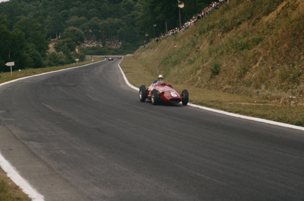 Rouen-Les-Essarts, France. 5-7 July 1957. Harry Schell (Maserati 250F) 5th position.  Ref-57 FRA 25. World Copyright - LAT Photographic