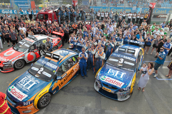 during the Armor All Gold Coast 600, event 11 of the 2011 Australian V8 Supercar Championship Series at the Gold Coast Street Circuit, Gold Coast, Queensland, Saturday, October 22, 2011.World Copyright: Mark Horsburgh/LAT Photographicref: Podium-Race21-EV11-11-7880