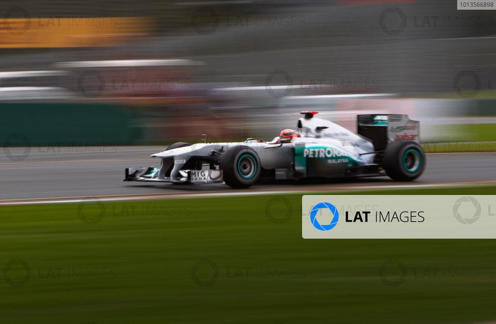 Albert Park, Melbourne, Australia 24th March 2011. Michael Schumacher, Mercedes GP W02. Action.  World Copyright: Steve Etherington/LAT Photographic ref: Digital Image SNE23770