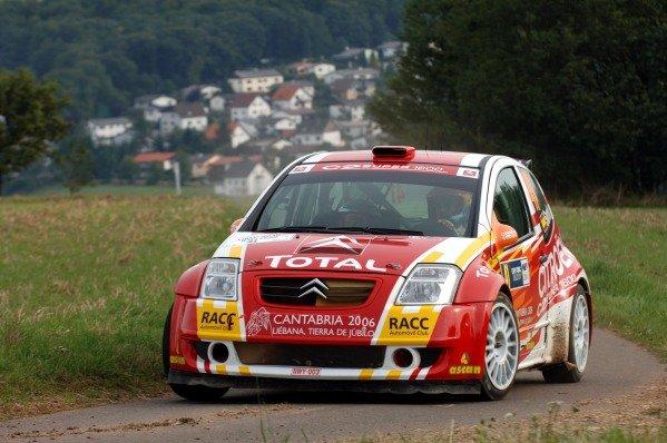 Daniel Sordo (ESP) on Stage 7, Citroen C2 Super 1600 JWRC. FIA World Rally Championship, Rd11, Rallye Deutschland, Trier, Germany. Day Two, 27 August 2005. DIGITAL IMAGE