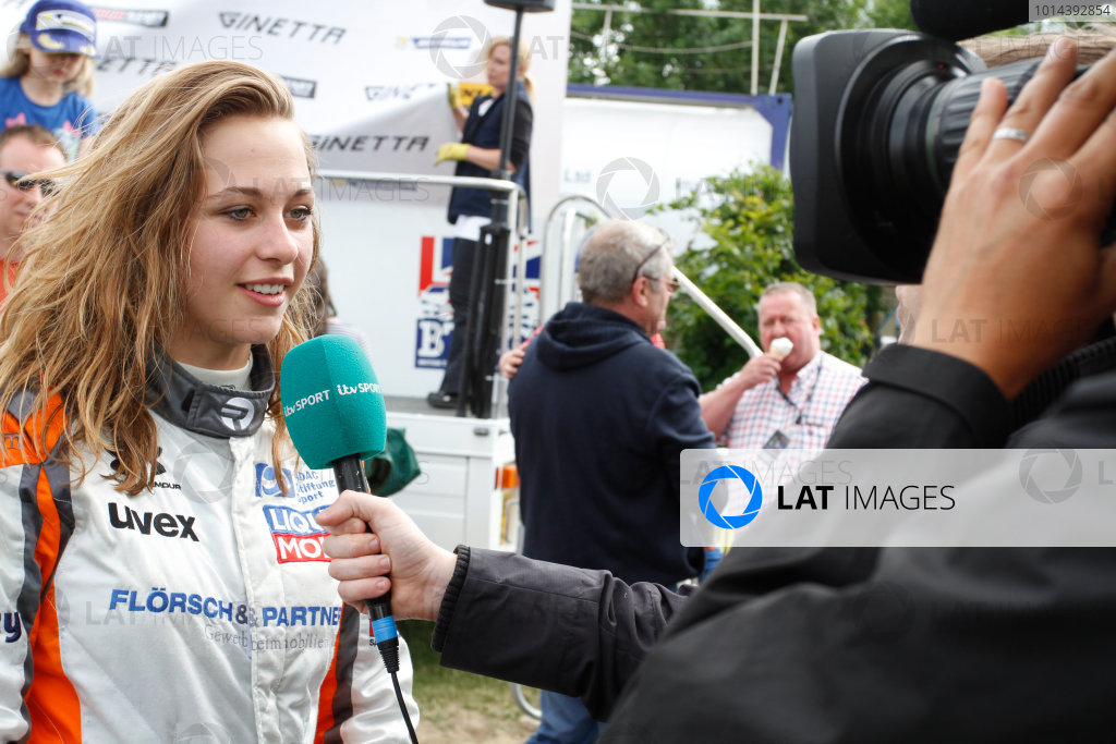 2015 Ginetta GT4 Supercup, Croft, 27th-28th June 2015,  Sophia Floersch (GER) HHC Motorsport Ginetta Junior  World copyright. Jakob Ebrey/LAT Photographic
