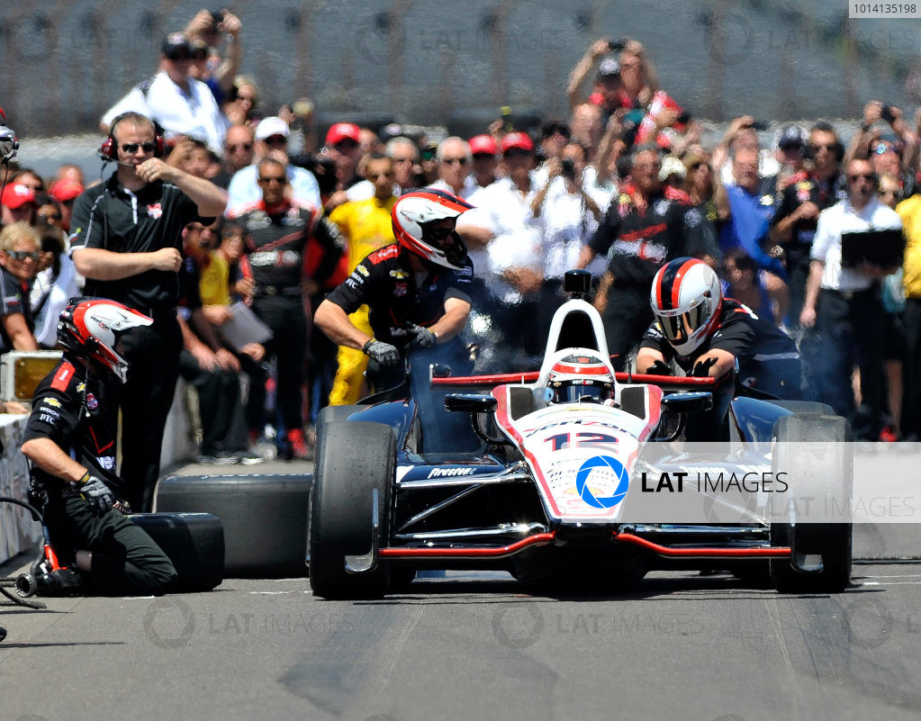 23 May, 2014, Indianapolis, Indiana, USA Will Power during the pit stop competition ©2014, Geoffrey M. Miller LAT Photo USA
