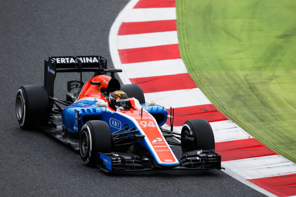 Circuit de Catalunya, Barcelona, Spain. Tuesday 17 May 2016. Pascal Wehrlein, Manor MRT 05 Mercedes.  Photo: Sam Bloxham/LAT Photographic. ref: Digital Image _L4R1985