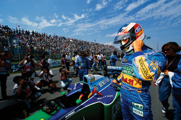 Montreal, Canada. 10-12 June 1994. Michael Schumacher (Benetton B194 Ford) 1st position, on the grid, portrait.  World Copyright: LAT Photographic. Ref:  94 CAN 07.