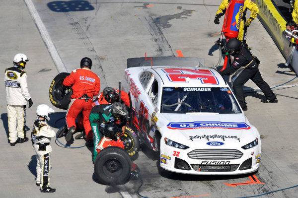 25-27 October, 2013, Martinsville, Virginia USA Ken Schrader pit stop © 2013, Nigel Kinrade LAT Photo USA