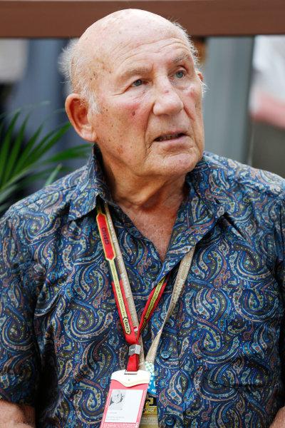 Marina Bay Circuit, Singapore. Sunday 21 September 2014. Sir Stirling Moss. World Copyright: Alastair Staley/LAT Photographic. ref: Digital Image _79P8852