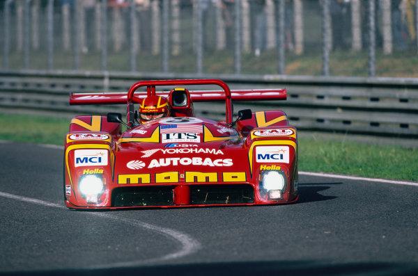 1997 Le Mans 24 Hours. Le Mans, France. 14th - 15th June 1997. Didier Theys/Gianpiero Moretti/Max Papis (Ferrari 333 SP), 6th position, action. World Copyright: LAT Photographic. Ref:  97LM19