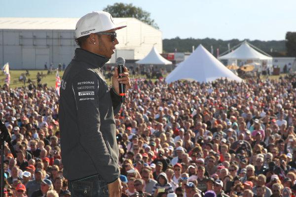 2014 FIA Formula One World Championship Silverstone, Northamptonshire, England. Sunday 6 July 2014 Lewis Hamilton, Mercedes AMG World Copyright: Jakob Ebrey/LAT Photographic.