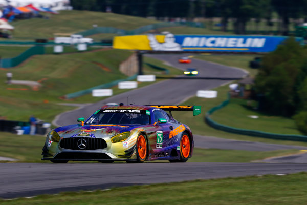 IMSA WeatherTech SportsCar Championship Michelin GT Challenge at VIR Virginia International Raceway, Alton, VA USA Friday 25 August 2017 75, Mercedes, Mercedes AMG GT3, GTD, Tristan Vautier, Kenny Habul World Copyright: Jake Galstad LAT Images