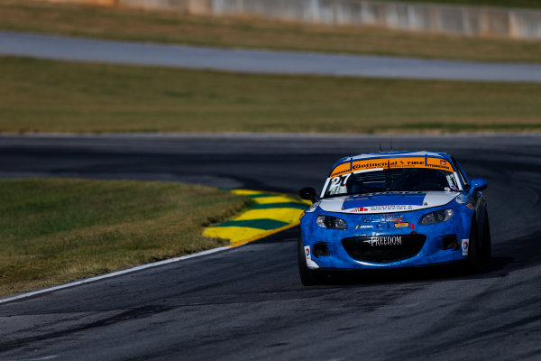 IMSA Continental Tire SportsCar Challenge Fox Factory 120 Road Atlanta, Braselton GA Thursday 5 October 2017 27, Mazda, Mazda MX-5, ST, Britt Casey Jr, Tom Long World Copyright: Jake Galstad LAT Images