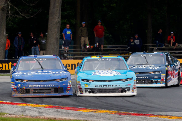 NASCAR XFINITY Series Johnsonville 180 Road America, Elkhart Lake, WI USA Sunday 27 August 2017 Daniel Hemric, Chevrolet Camaro, Elliott Sadler, OneMain Financial Chevrolet Camaro and Brennan Poole, DC Solar Chevrolet Camaro World Copyright: Russell LaBounty LAT Images