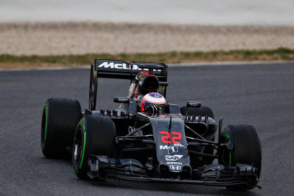 Circuit de Catalunya, Barcelona, Spain Monday 22 February 2016. Jenson Button, McLaren MP4-31 Honda. World Copyright: Alastair Staley/LAT Photographic ref: Digital Image _R6T6550
