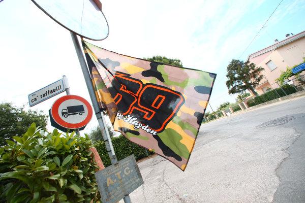 2017 Superbike World Championship - Round 7 Misano, Italy. Thursday 15 June 2017 Nicky Hayden accident site World Copyright: Gold and Goose Photography/LAT Images ref: Digital Image WSBK-100-5577