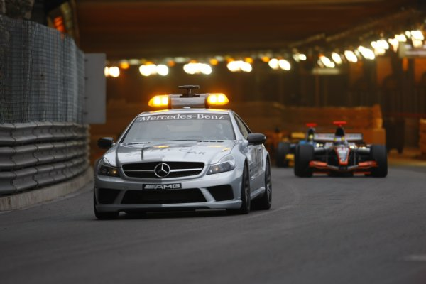 2008 GP2 Series. Round 3. Saturday Race. Monte-Carlo, Monaco. 24th May 2008.The safety car leads the field. Action. World Copyright: Charles Coates/GP2 Series Media Service.ref:__26Y9547 jpg