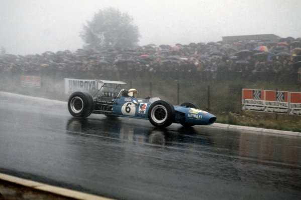 1968 German Grand Prix. Nurburgring, Germany. 2nd - 4th August 1968. RD8. Jackie Stewart, Matra MS10 Ford on his way to victory. Action.  World Copyright: LAT Photographic. Ref: 68 GER 13