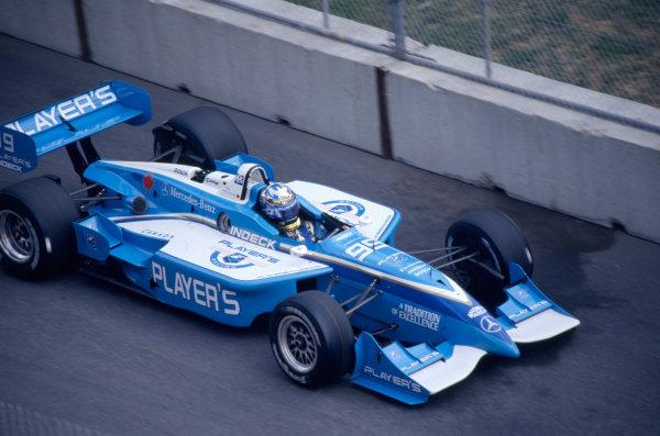 1999 CART World Series.Toronto, Canada. 18th July 1999.Greg Moore (Reynard 99I-Mercedes-Benz), 20th/Retired.World Copyright: Murenbeeld/LAT Photographic