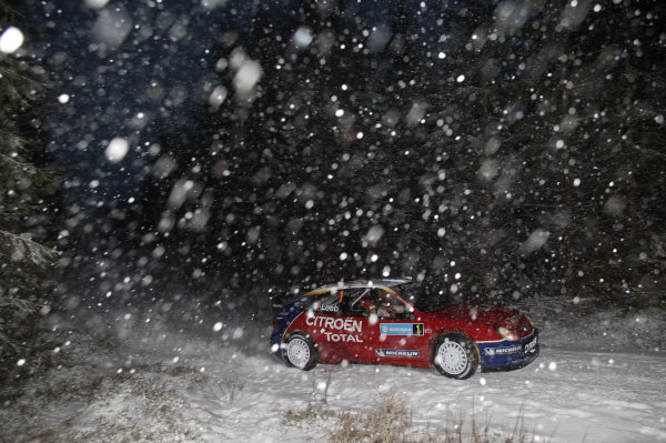 2005 FIA World Rally Champs. Round two Swedish Rally.10th-13th February 2005.Sebastien Loeb. Citroen, action.World Copyright: McKlein/LAT