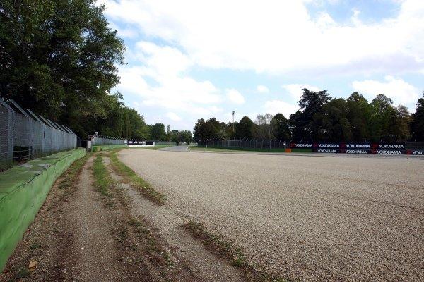 Tamburello, looking back from the impact point of Ayrton Senna (BRA).Imola Track Walk, Imola, San Marino, Thursday 17 September 2009.
