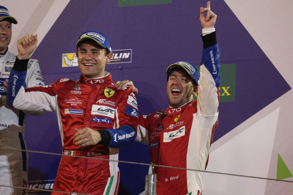2017 FIA World Endurance Championship, Bahrain International Circuit, Bahrain. 16th-18th November 2017, #71 AF Corse Ferrari 488 GTE: Davide Rigon, Sam Bird  World Copyright. JEP/LAT Images