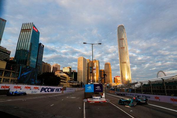 2017/2018 FIA Formula E Championship. Round 1 - Hong Kong, China. Saturday 02 December 2017.Mitch Evans (NZL), Panasonic Jaguar Racing, Jaguar I-Type II. Photo: Sam Bloxham/LAT/Formula E ref: Digital Image _J6I3827