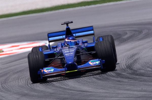 2001 Malaysian Grand Prix.Sepang, Kuala Lumpur, Malaysia. 16-18 March 2001.Gaston Mazzacane (Prost AP04 Acer).World Copyright - Steve Etherington/LAT Photographic.ref: 18mb Digital Image