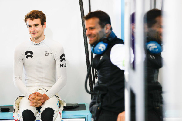 Tom Dillmann (FRA), NIO Formula E Team, in the garage