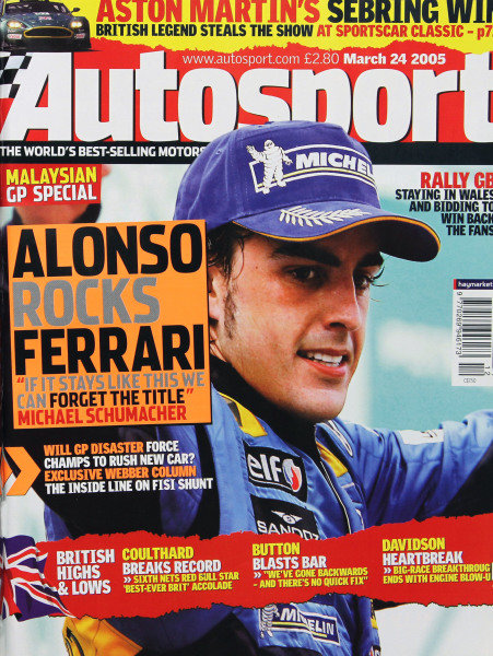 Cover of Autosport magazine, 24th March 2005