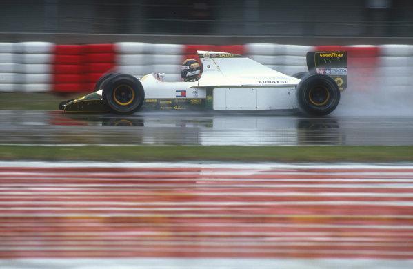 1991 San Marino Grand Prix.Imola, Italy.26-28 April 1991.Julian Bailey (Lotus 102B Judd) 6th position. This was his last Grand Prix.Ref-91 SM 31.World Copyright - LAT Photographic