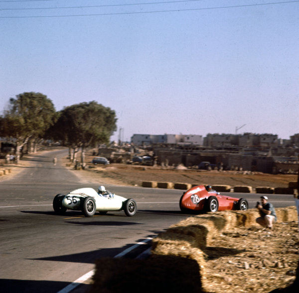 1958 Moroccan Grand Prix.Ain-Diab, Casablanca, Morocco.17-19 October 1958.Tommy Bridger (Cooper T45 Climax, number 56).Ref-3/0130.World Copyright - LAT Photographic