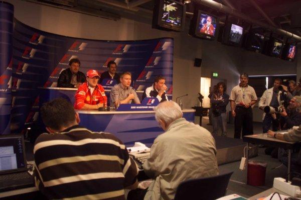 2000 European Grand Prix.Nurburgring, Germany. 19-21 May 2000.Drivers at a press conference.World Copyright - LAT Photographic