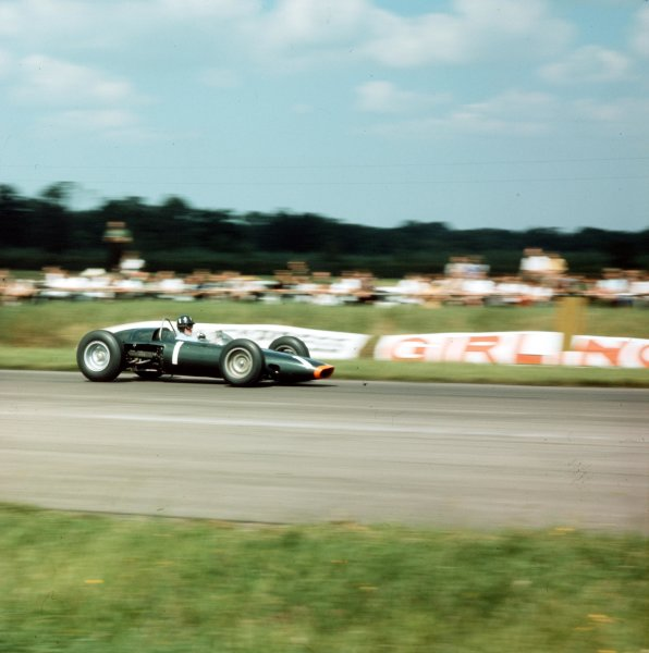 1963 British Grand Prix.Silverstone, England.18-20 July 1963.Graham Hill (BRM P57) 3rd position.Ref-3/1004World Copyright - LAT Photographic