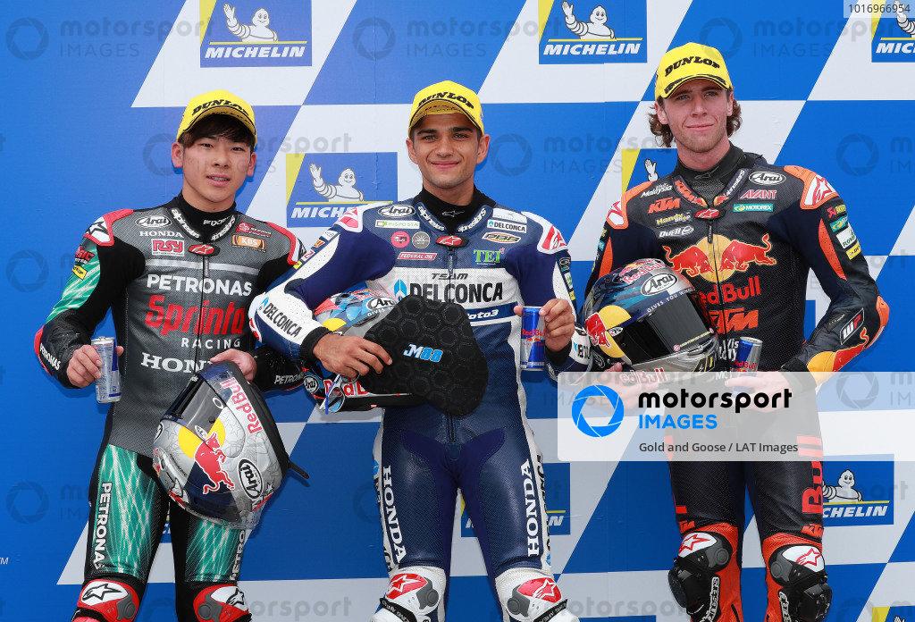 Ayumu Sasaki, Petronas Sprinta Racing, Jorge Martin, Del Conca Gresini Racing Moto3, Darryn Binder, Red Bull KTM Ajo, Ausralian MotoGP 2018
