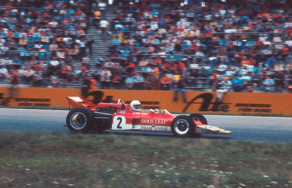 1970 German Grand Prix.Hockenheim, Germany.31/7-2/8 1970.Jochen Rindt (Lotus 72C Ford) 1st position.Ref-70 GER 01.World Copyright - LAT Photographic
