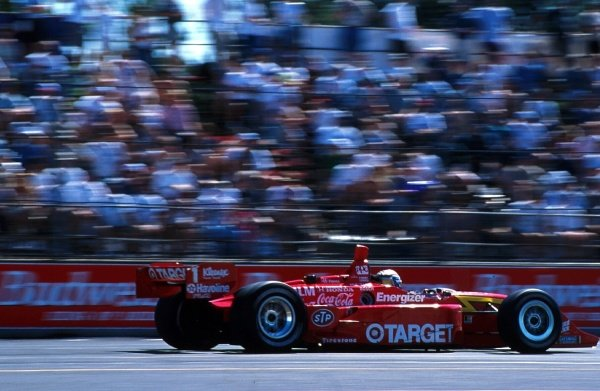 Alex Zanardi (ITA) races to victory for Target Chip Ganassi Racing at Portland.CART Fedex World Series, Rd9, Portland, Oregon, USA. 21 June 1998.