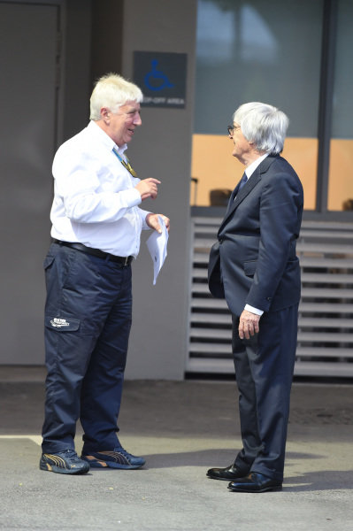 Herbie Blash (GBR) FIA Delegate and Bernie Ecclestone (GBR) CEO Formula One Group (FOM). Formula One World Championship, Rd14, Singapore Grand Prix, Marina Bay Street Circuit, Singapore, Preparations, Thursday 18 September 2014.