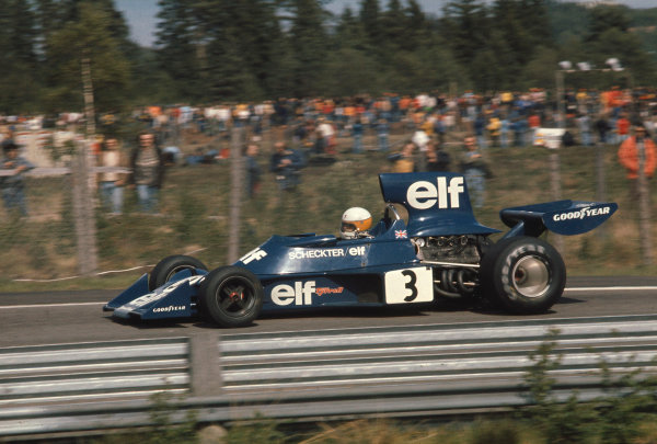 1974 Swedish Grand Prix.Anderstorp, Sweden.7-9 June 1974.Jody Scheckter (Tyrrell 007 Ford) 1st position. This was his maiden Grand Prix win.Ref-74 SWE 12.World Copyright - LAT Photographic