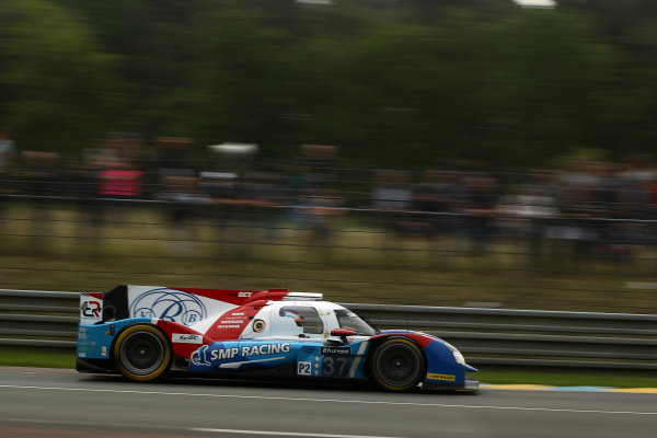 2016 Le Mans 24 Hours Test day, Le Mans, France. 5th June 2016. Vitaly Petrov / Krill Ladygin / Victor Shaytar - SMP Racing BR01-Nissan. World Copyright: Ebrey / LAT Photographic.