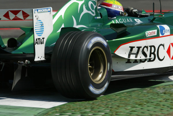 2003 Austrian Grand Prix, Friday Qualifying,A1 Ring, Austria.16th May 2003Mark Webber, Jaguar R4, action.World Copyright LAT Photographic.Digital Image Only.