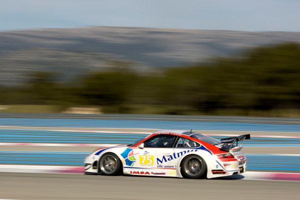 Circuit Paul Ricard, France. 8th March 2009. Raymond Narac / Patrick Pillet, (IMSA Performance MATMUT) Porsche 997 GT3 RSR. Action. World Copyright: Drew Gibson/LAT Photographic.ref: Digital Image DG0_2788