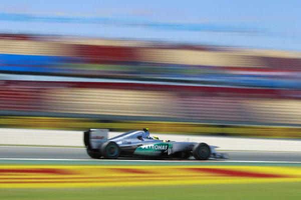 Circuit de Catalunya, Barcelona, Spain11th May 2012Nico Rosberg, Mercedes F1 W03. World Copyright:Andrew Ferraro/LAT Photographicref: Digital Image  _Q0C8696