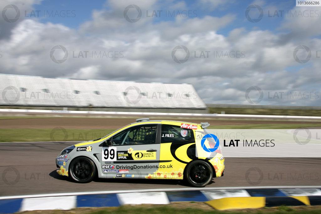 Rockingham, Northamptonshire. 17th - 18th September 2011.Josh Files (GBR) Team Pyro Renault Clio Cup.World Copyright: Ebrey/LAT Photographic.