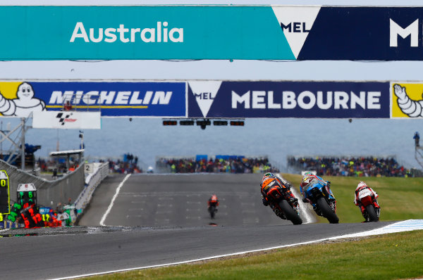 2017 Moto2 Championship - Round 16 Phillip Island, Australia. Sunday 22 October 2017 Brad Binder, Red Bull KTM Ajo World Copyright: Gold and Goose / LAT Images ref: Digital Image 24771
